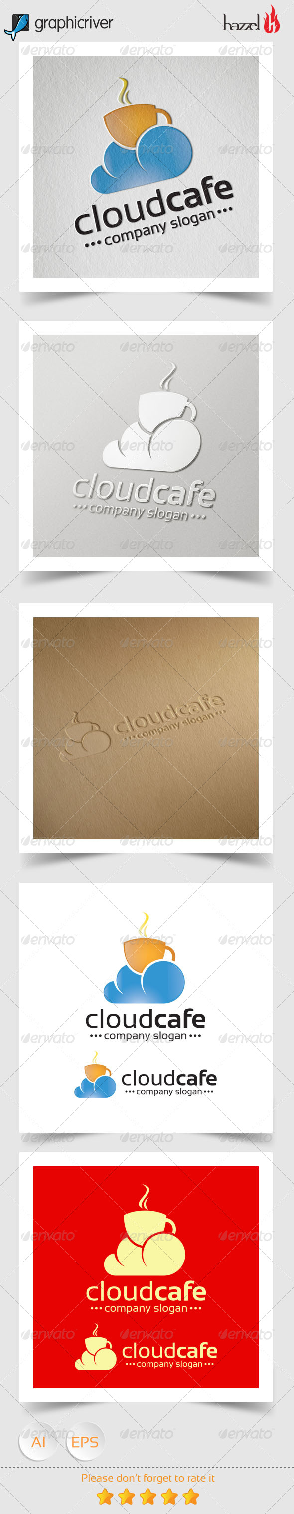 GraphicRiver Cloud Cafe Logo 8326540