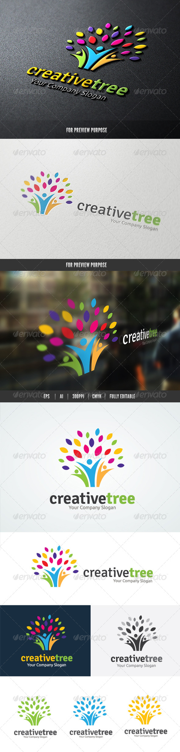 GraphicRiver People Creative Tree logo 8326607