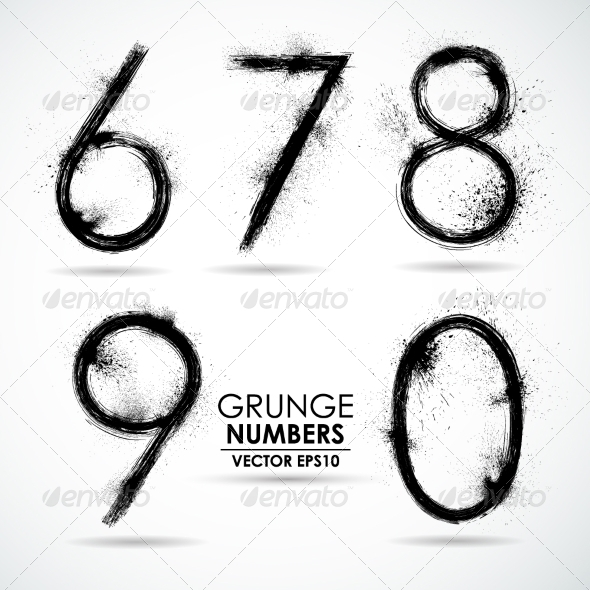 GraphicRiver Vector Set Grunge Number Part 2 8326643