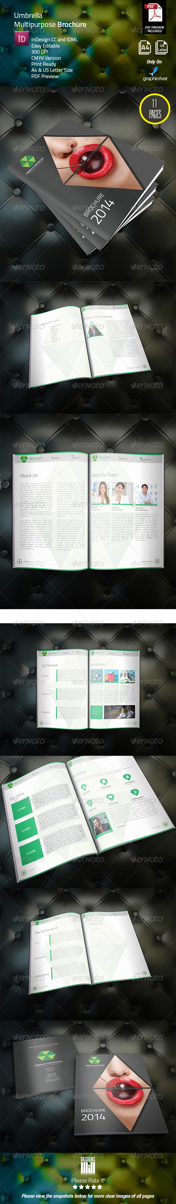 GraphicRiver Umbrella Corporate Brochure 8326648