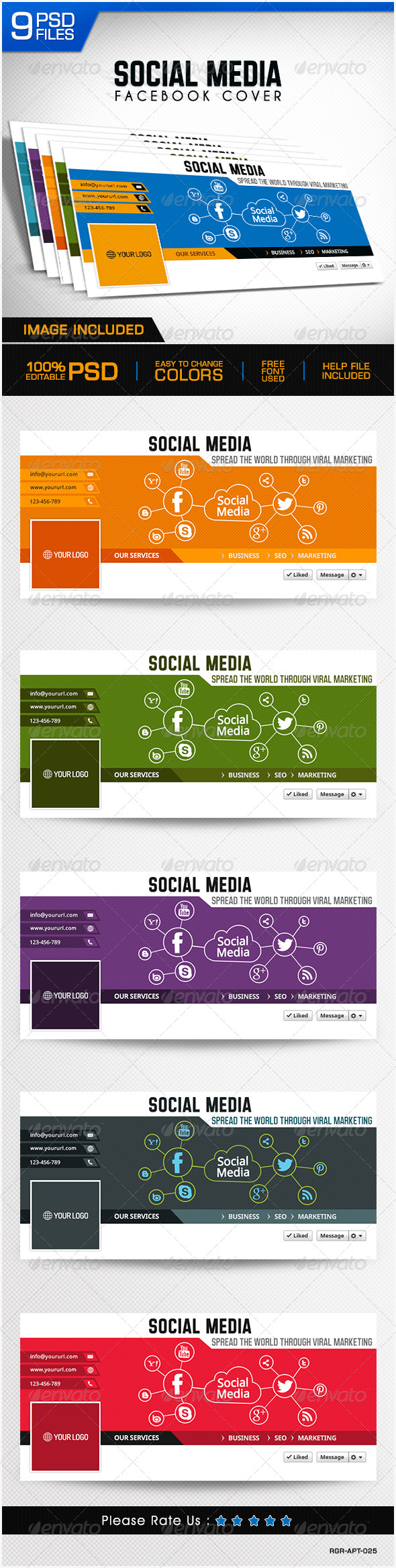 GraphicRiver Social Media Marketing Facebook Cover 8326723