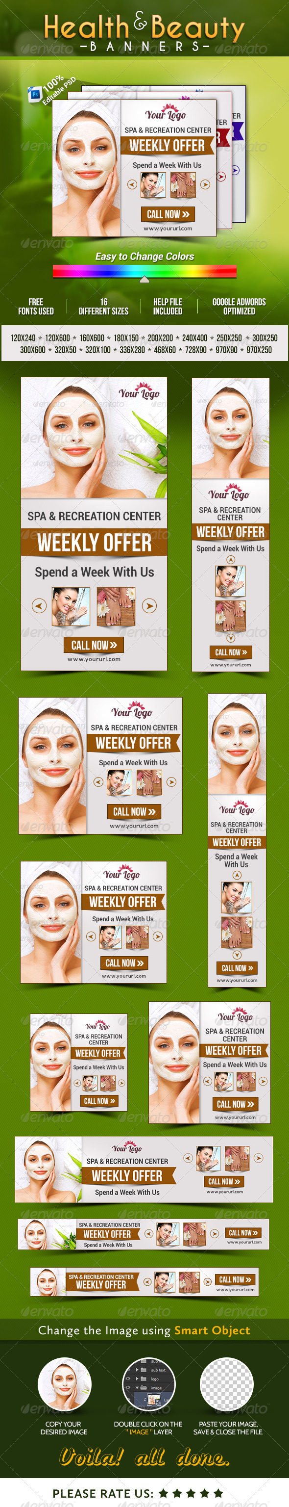 GraphicRiver Health & Beauty Banners 8326757