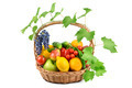 fruits and vegetables in a wicker basket - PhotoDune Item for Sale