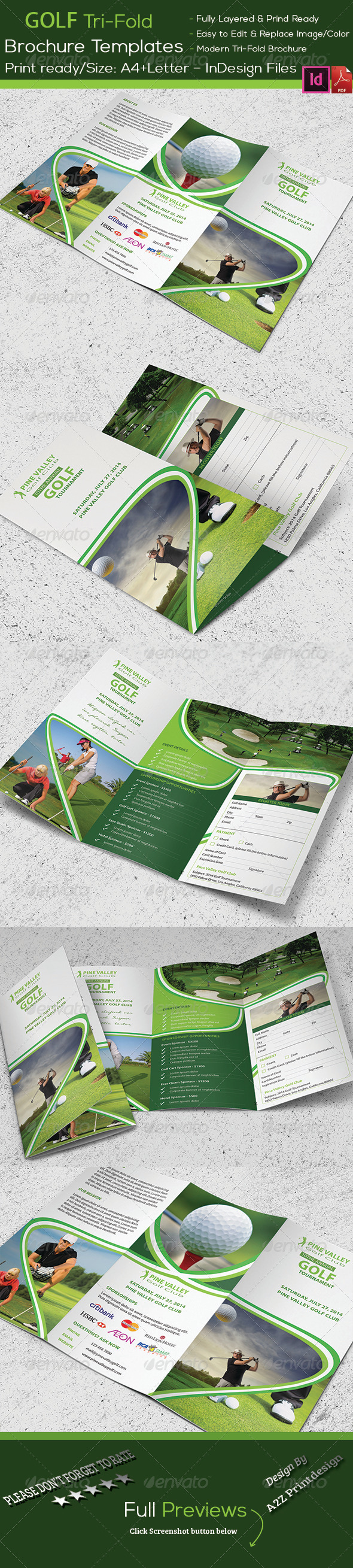 GraphicRiver Golf Tournament Trifold Brochure 8327072