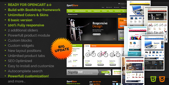 SportStore - Modern Multi-Purpose OpenCart Theme