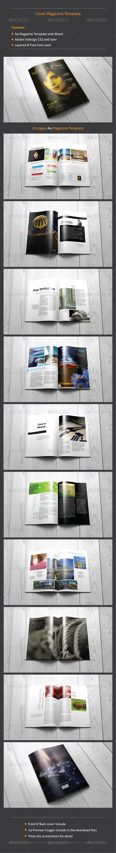 GraphicRiver Clean Magazine Template 8327143