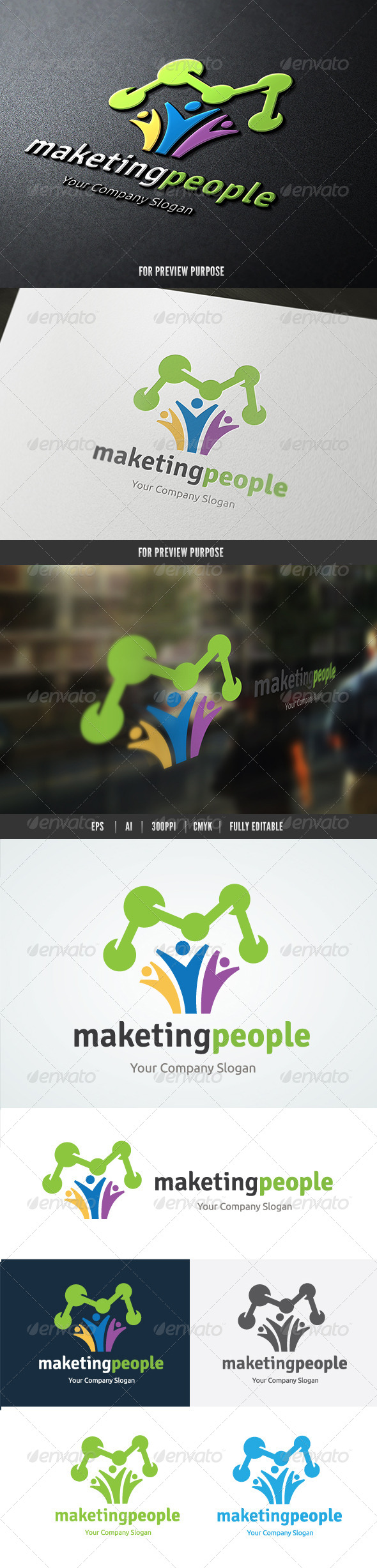 GraphicRiver Marketing People Logo 8327243