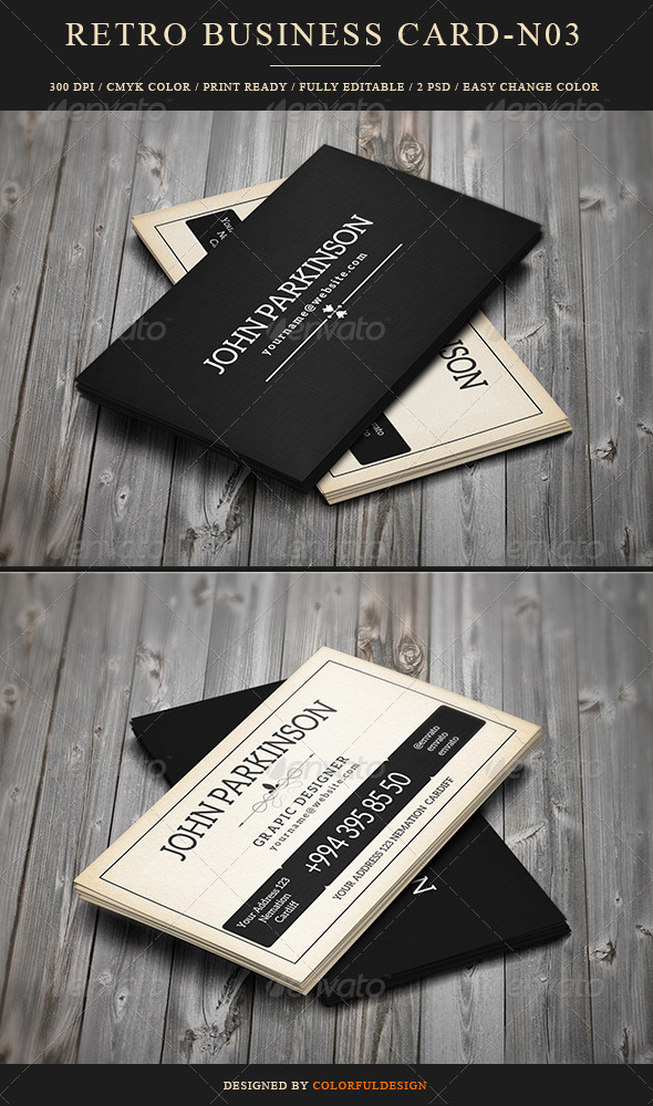 GraphicRiver Retro Business Card 8319165