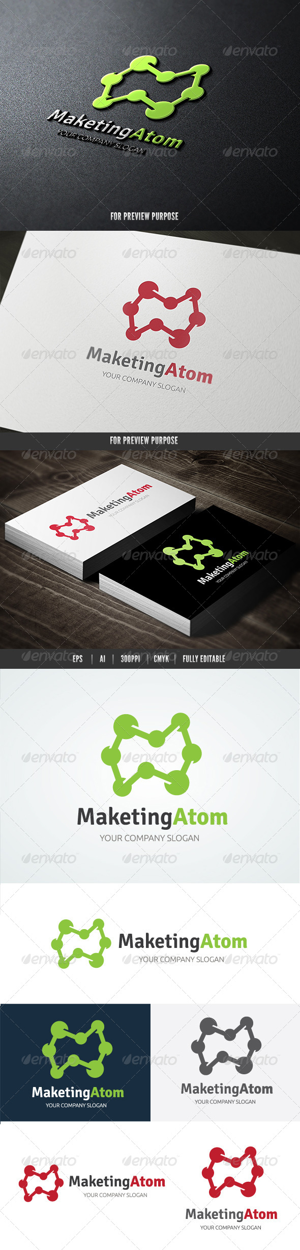 GraphicRiver Marketing Atom Logo 8327311