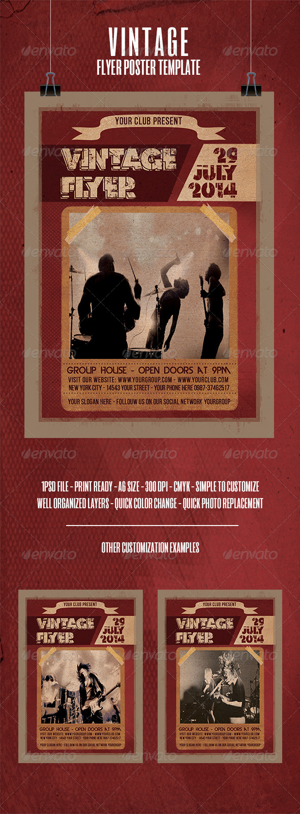 GraphicRiver Vintage Flyer Poster Template 8239943