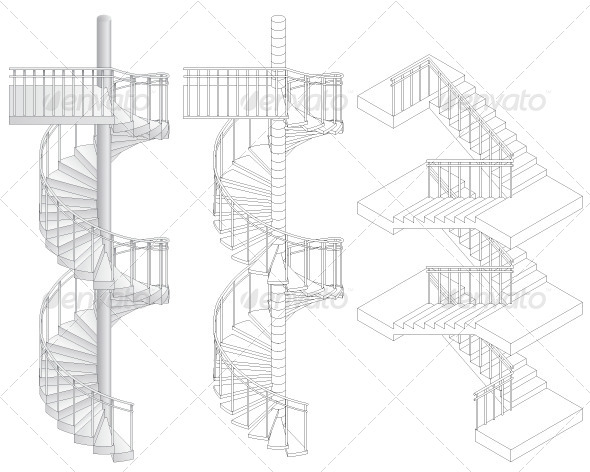 GraphicRiver Staircases 8327419