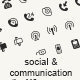 Social and Communication Custom Shape Icons - GraphicRiver Item for Sale