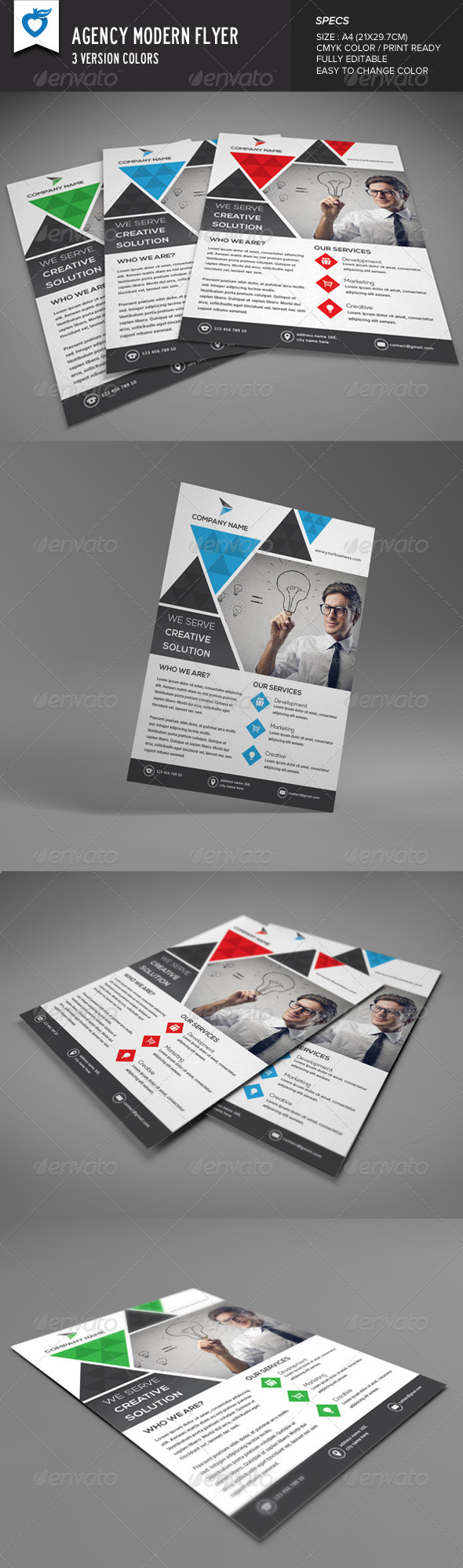 GraphicRiver Agency Modern Flyer 8328383