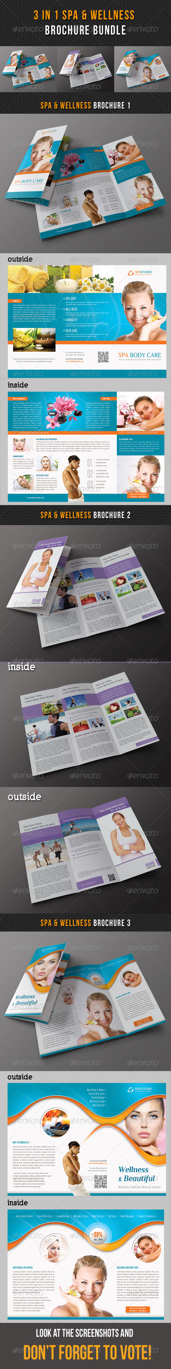 GraphicRiver 3 in 1 Spa Wellness Brochure Bundle 02 8328384