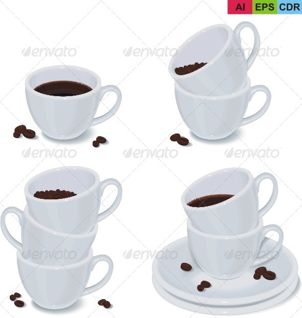 GraphicRiver Set of Coffee Cups 8322141