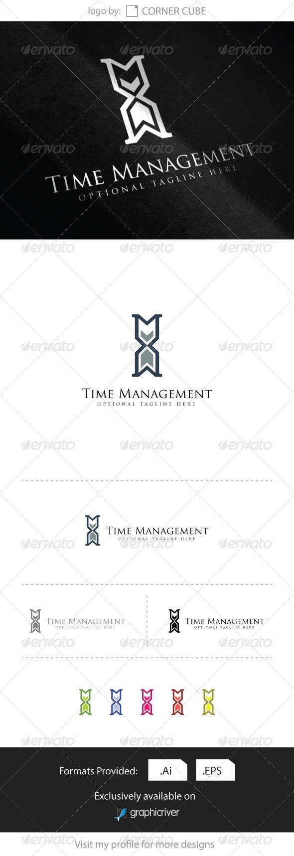 GraphicRiver Time Management Logo 8328605