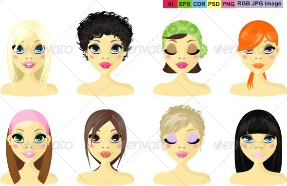 GraphicRiver Avatar Icon Women 8328620