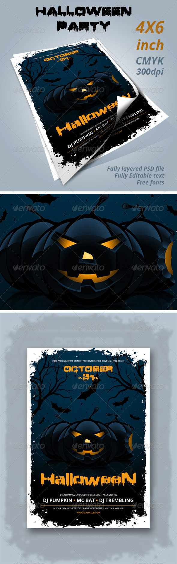 GraphicRiver Halloween Party Flyer 8292058
