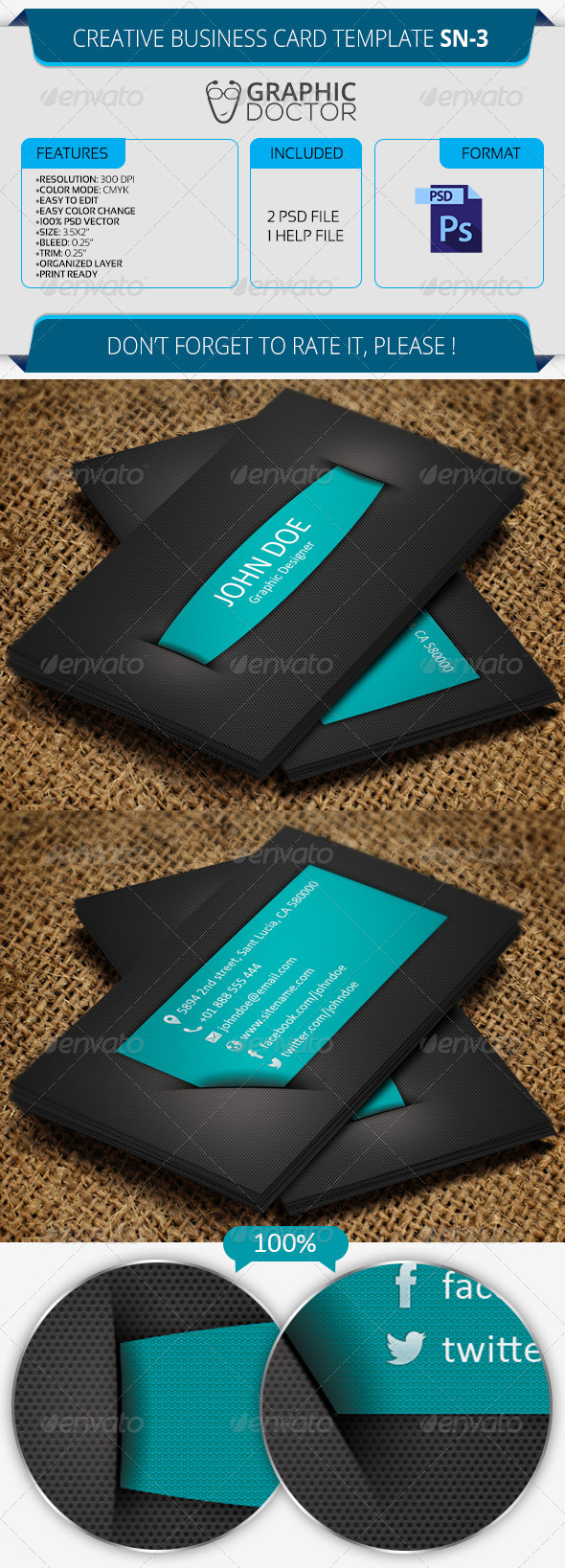 Creative Business Card Template SN-3