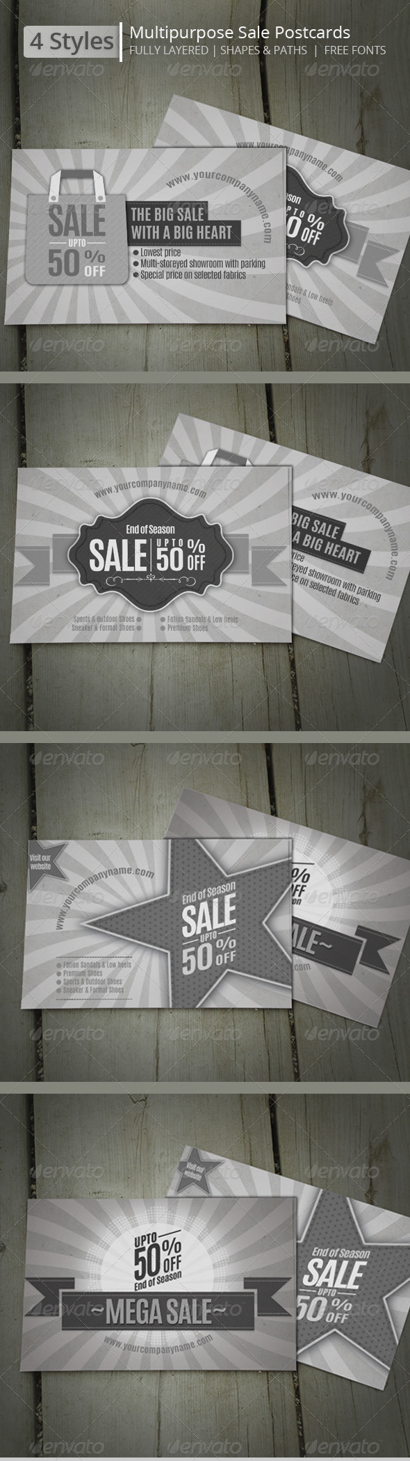GraphicRiver Multipurpose Sales Postcards 8328803