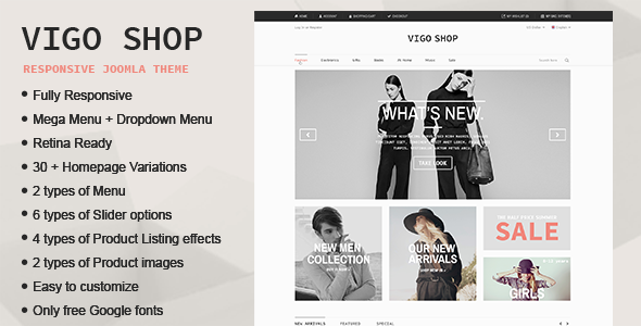 Vigo Shop - Responsive & Multipurpose Joomla Theme