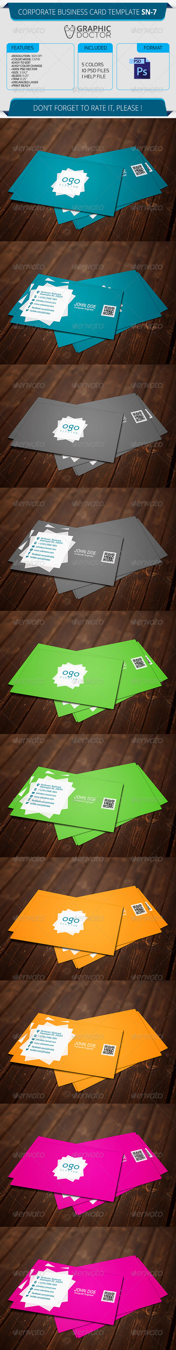 Corporate Business Card Template SN-7