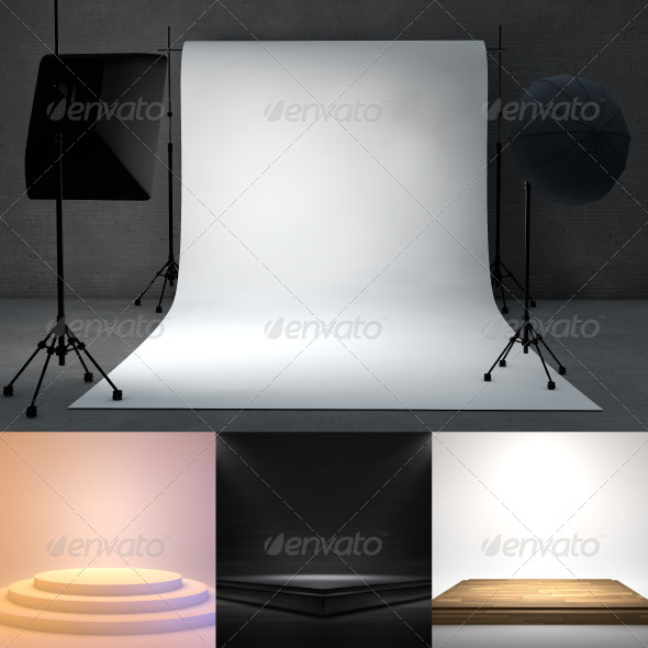 GraphicRiver Empty stage 3D render pack 8328833