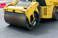 Road roller at work of road repairing - PhotoDune Item for Sale