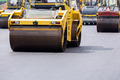 Steamroller at road repairing works - PhotoDune Item for Sale