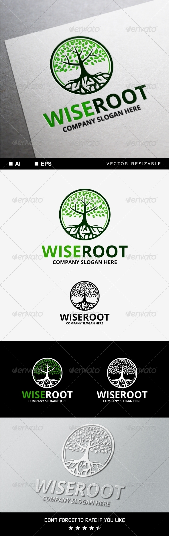 GraphicRiver Wise Root Logo 8328946