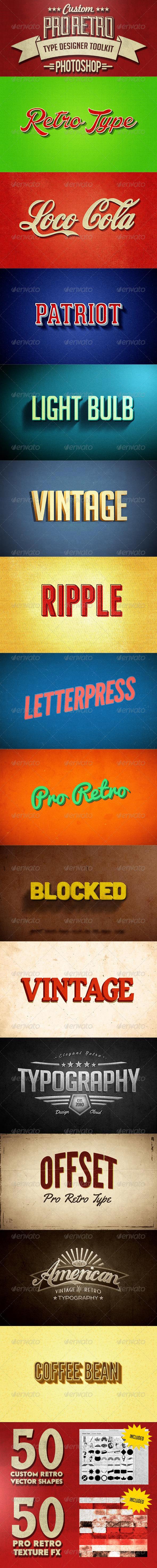 GraphicRiver Pro Retro Text Designer Toolkit 8138859