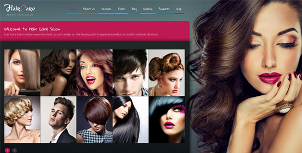 ThemeForest Hair Care Creative Hair Salon WordPress Theme 8329114