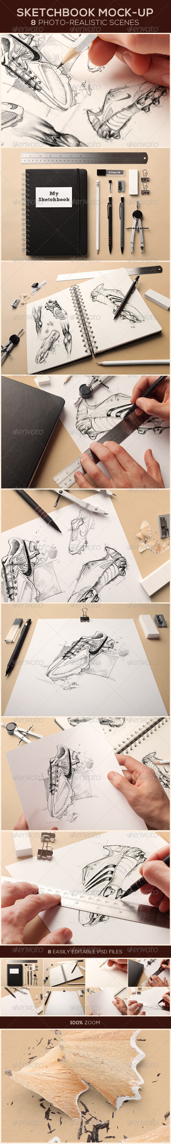 GraphicRiver Sketchbook Mock-up 8329154