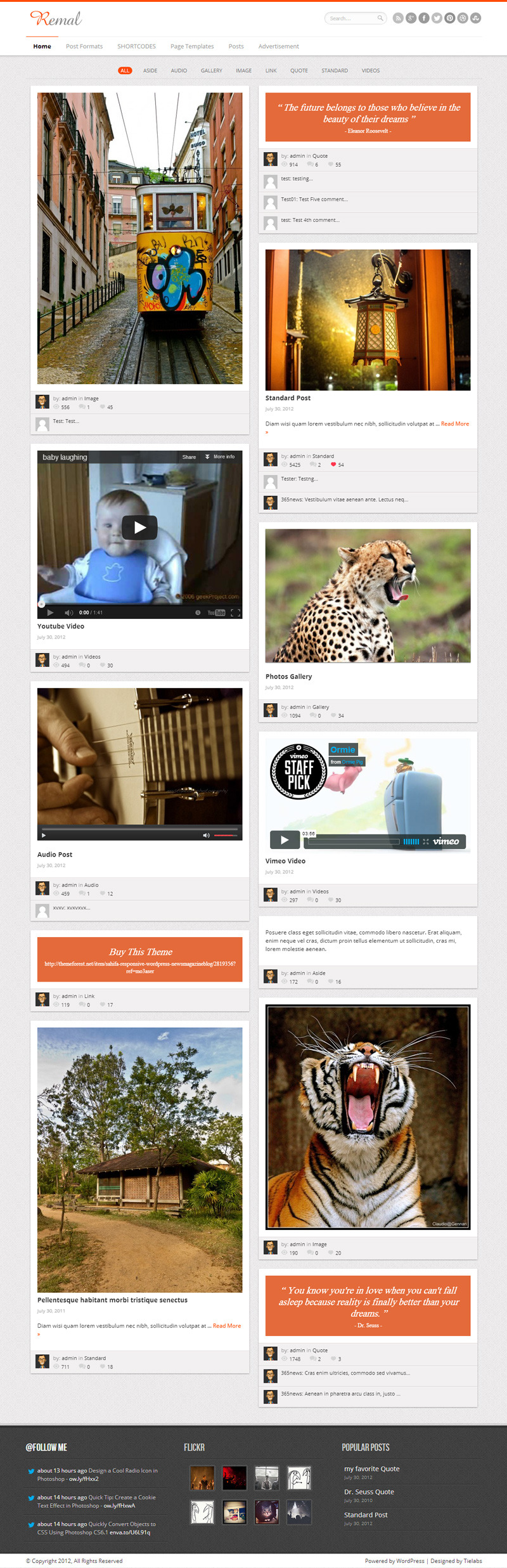 Remal - Responsive WordPress Blog Theme