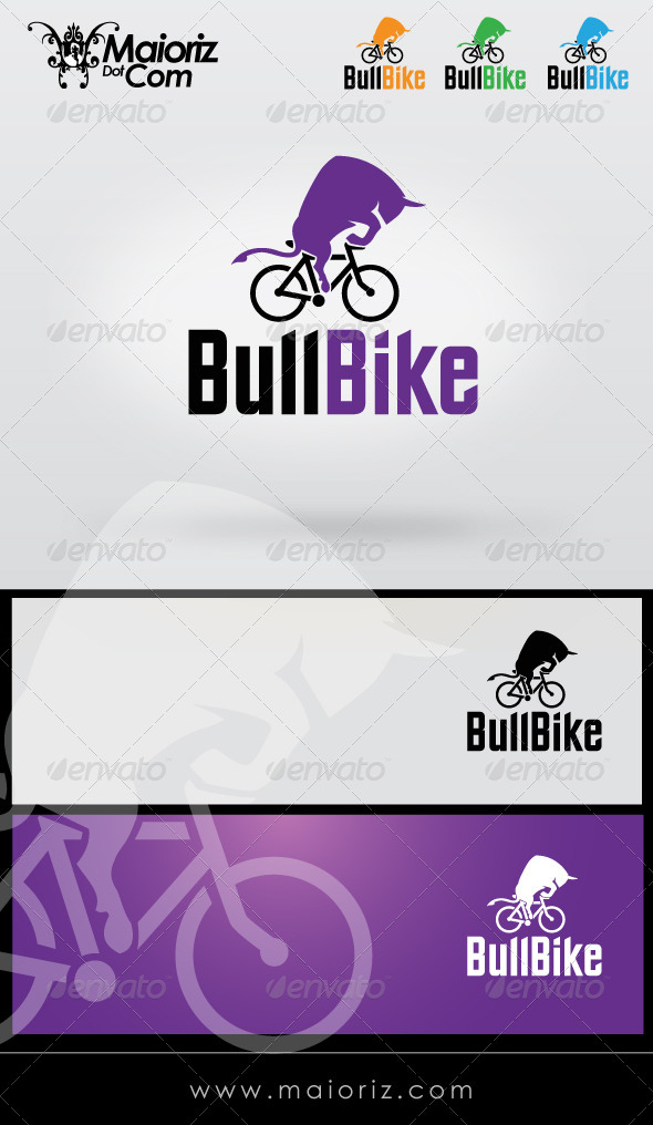 GraphicRiver Bull Bike Logo Template 8329190