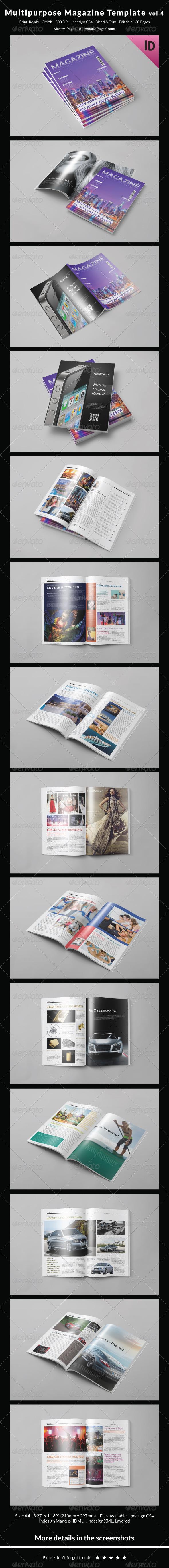 GraphicRiver Multipurpose Magazine Template Vol.4 8329474