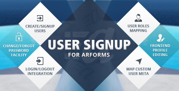 Advanced user signup integrationWith ARForms User signup Add-on you can set custom user meta with registration form. That means you can set additional fields ot