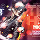 Techno Night Party Flyer - GraphicRiver Item for Sale