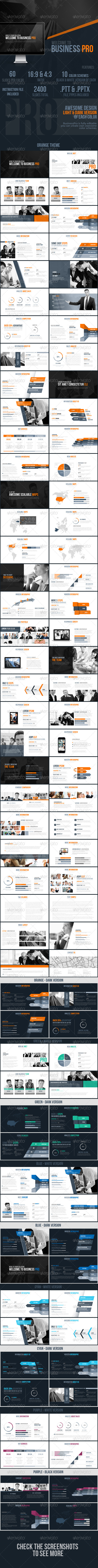 GraphicRiver Business Pro Powerpoint Presentation Template 8329510