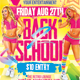 Retro Back to School Party Flyer - GraphicRiver Item for Sale