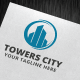 Towers City Logo Template - GraphicRiver Item for Sale