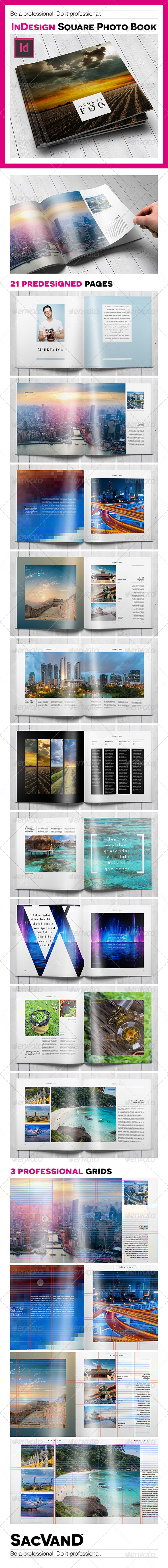 GraphicRiver Indesign square photo book template 8302262