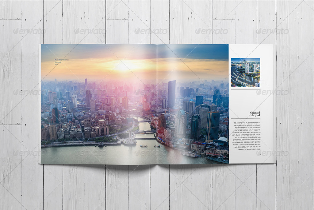 indesign square photo book template by sacvand