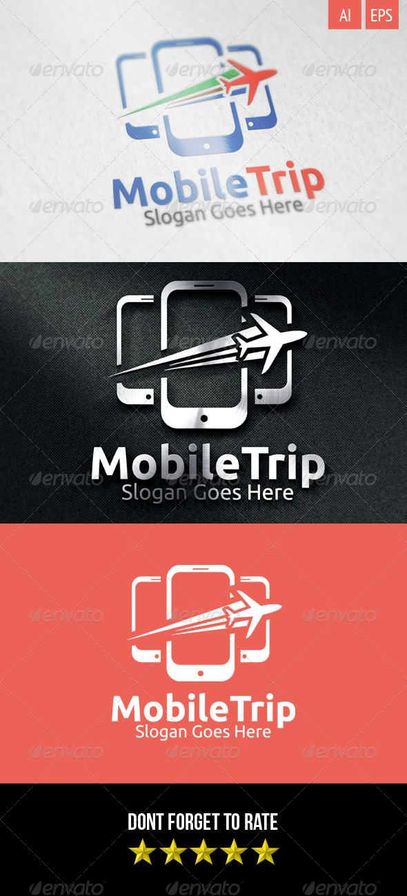 GraphicRiver Mobile Trip Logo 8329545
