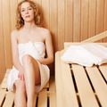 Relaxed young woman in a sauna bath - PhotoDune Item for Sale