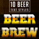 10 Beer Layer Styles - GraphicRiver Item for Sale