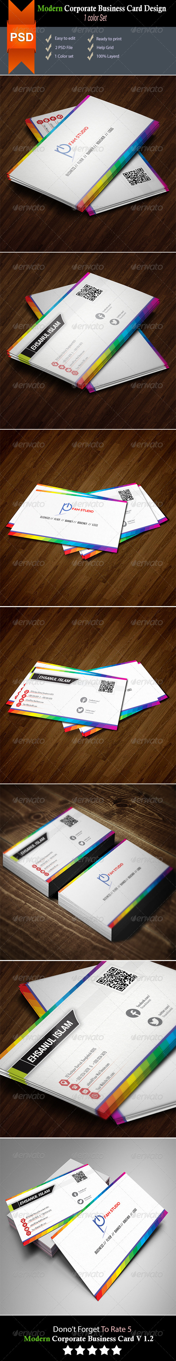 GraphicRiver Corporate Business Card Design 8329872