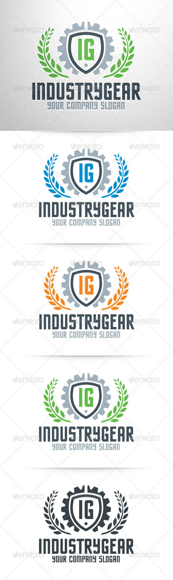 GraphicRiver Industry Gear Logo Template 8329874