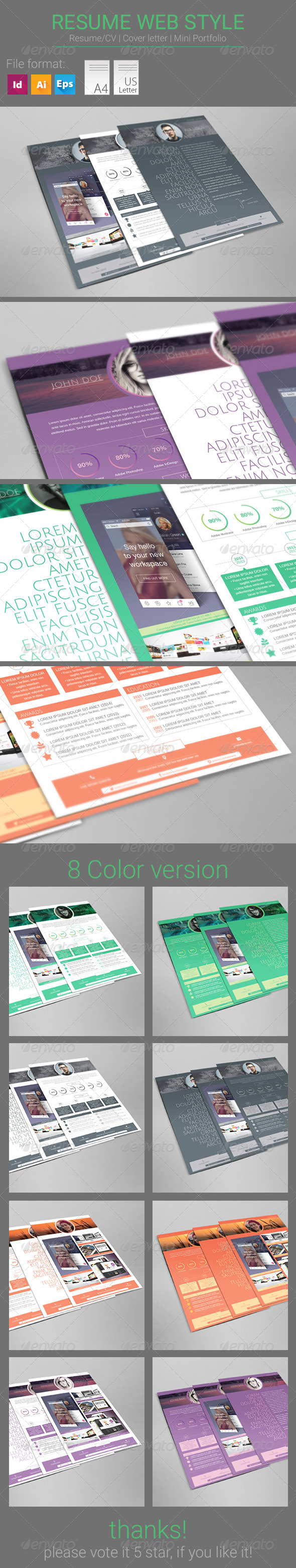 GraphicRiver Resume Web Style 8329909