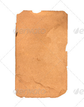 Old paper isolated on a white background - PhotoDune Item for Sale